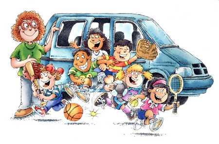 Carpooling Kids