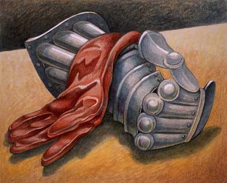 Silk Glove Over Gauntlet