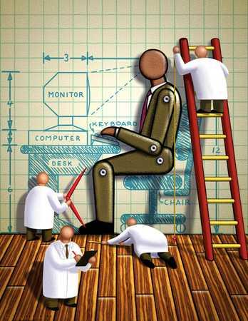 Men Designing An Office