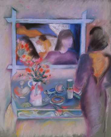 Woman At Mirror