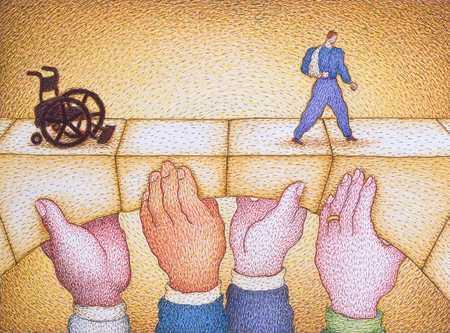 Hands Holding Medical Care Bridge