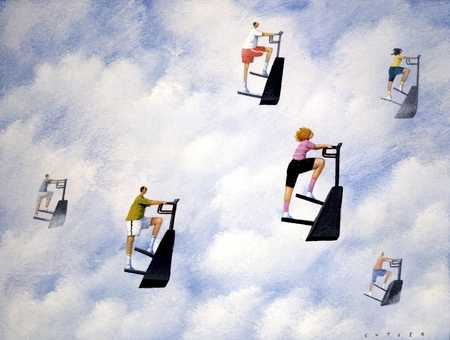 Stair climbers in the sky