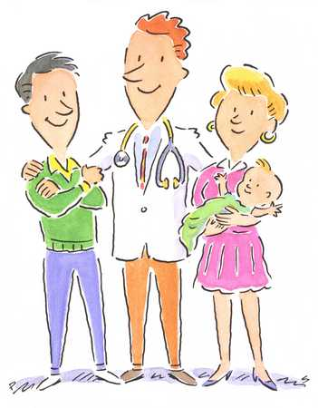 Doctor With New Parents