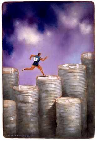 Runner On Piles Of Coins