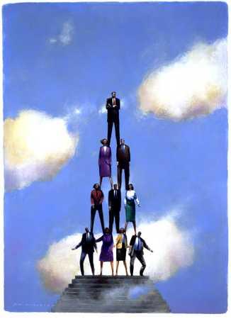 Businesspeople Pyramid