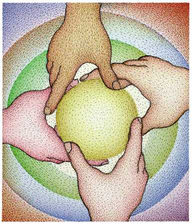 Hands Holding Sphere