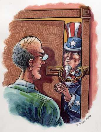Uncle Sam Locked Out