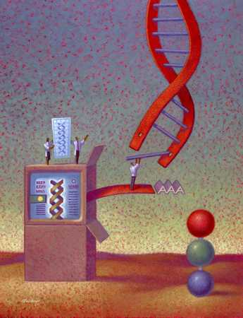 Computer And DNA Strand