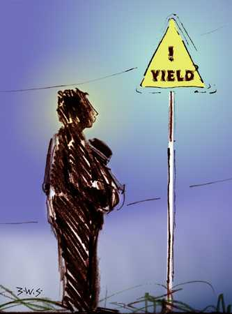 Figure And Yield Sign
