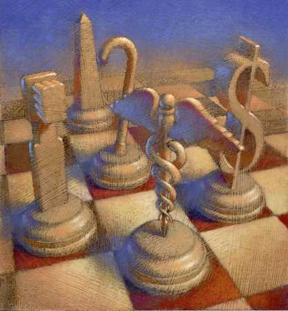 Chess Pieces With Symbols