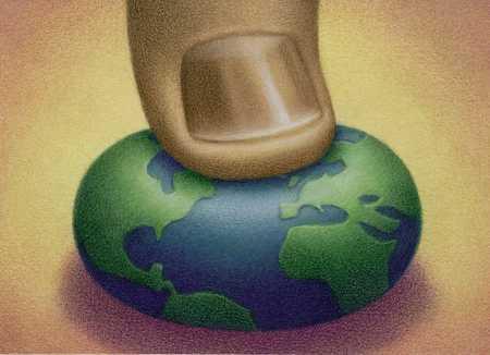 Thumb on earth