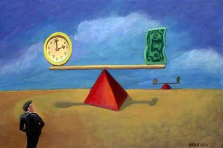 Balanced Money And Clock