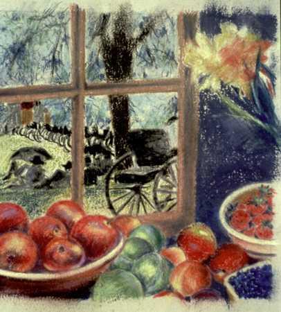 Fruit near window