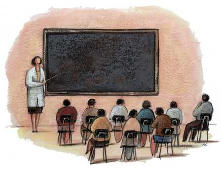 Chalkboard And Class