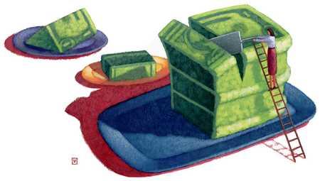 Slicing Dollar Cake