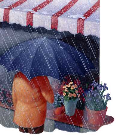 Figure With Umbrella