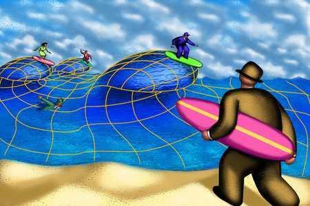 Businessman As Surfer