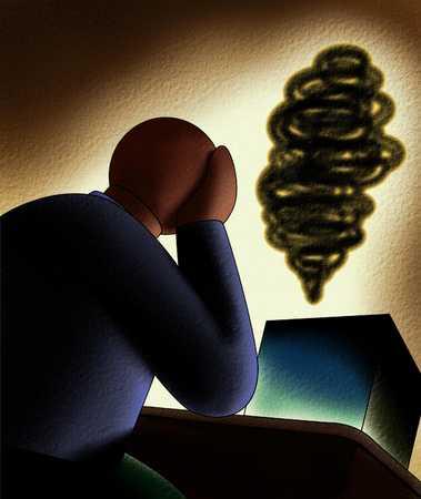 Depressed Figure