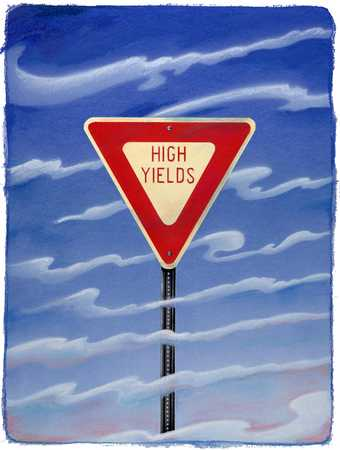 High Yields Sign