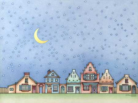Starry Sky Over Town