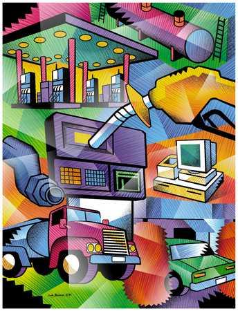Transportation fuel collage