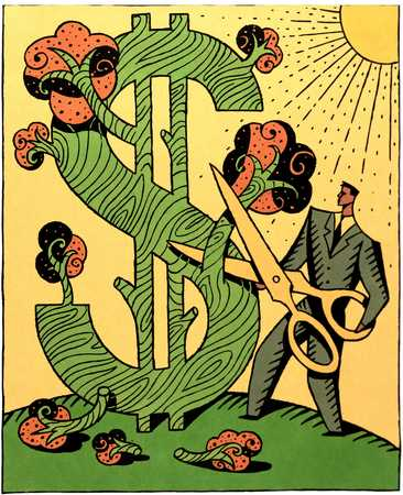Cutting Dollar Sign Tree