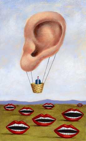 Ear Hot Air Balloon