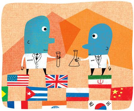 International scientists working together