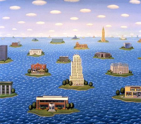 Buildings on individual islands