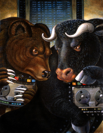 Bull and bear protecting tape recorders