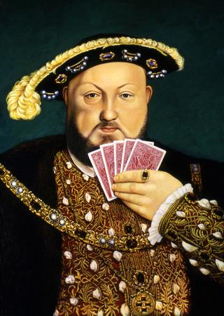 Nobleman playing poker