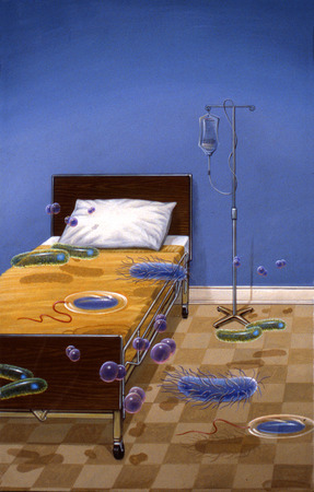 Germs in hospital room