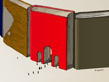 Gateways through large books
