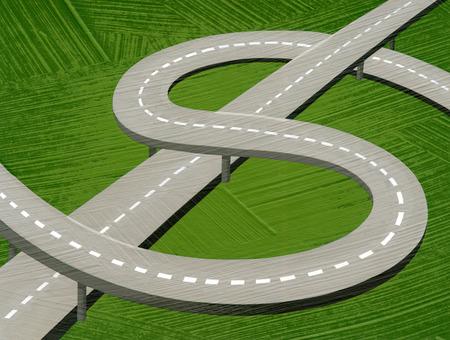 Dollar sign highway