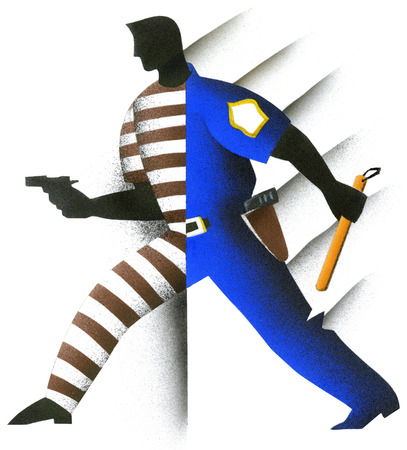 Half criminal half policeman