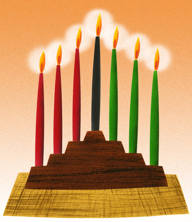 Traditional holiday candles