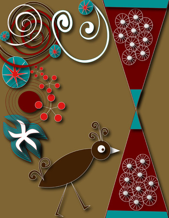 Abstract bird and design