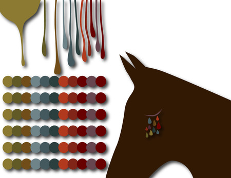 Abstract horse design