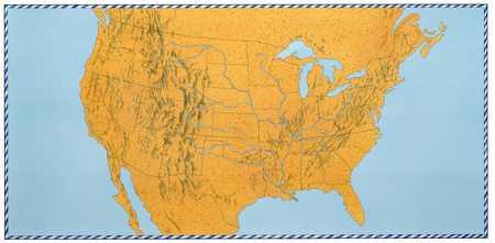 Bordered Map of North America