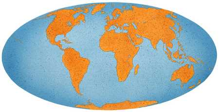 Stock illustration world map in oval globe world map in oval globe gumiabroncs Image collections