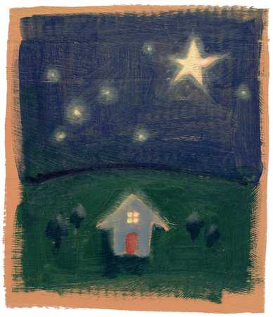 House And Night Sky