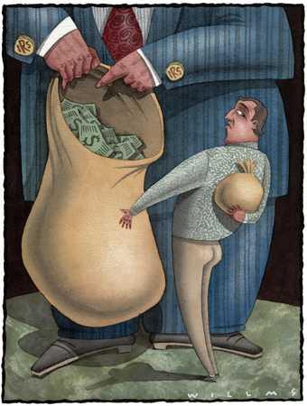 Man Hiding Money