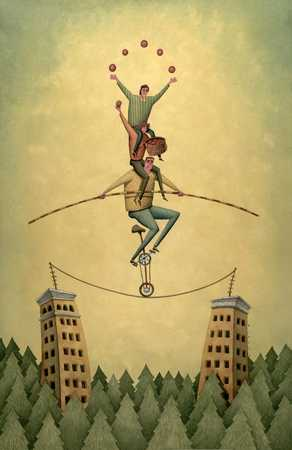 People On A High Wire