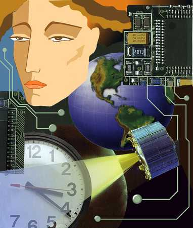 Woman With Information Technology