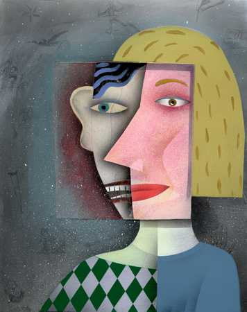 Woman with two faces