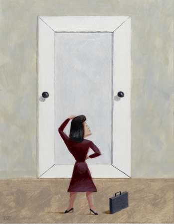 Door With Two Knobs