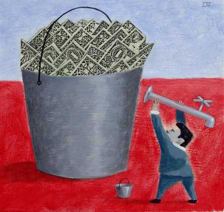 Tapping Into Bucket Of Money