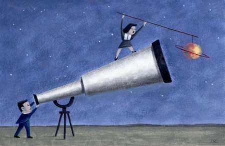 Figures With Giant Telescope