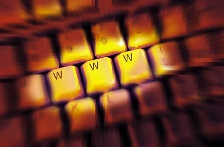 World wide web keyboard