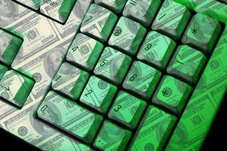 Keyboard made of money